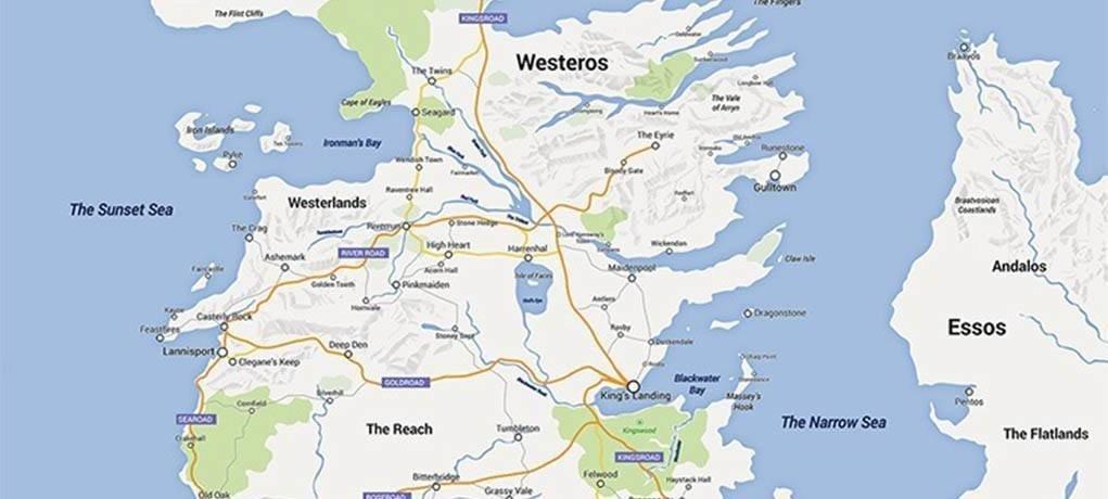 O Mapa De Game Of Thrones No Google Maps La Parola